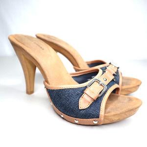 Audrey Brooke Denim Heels Size 7 1/2